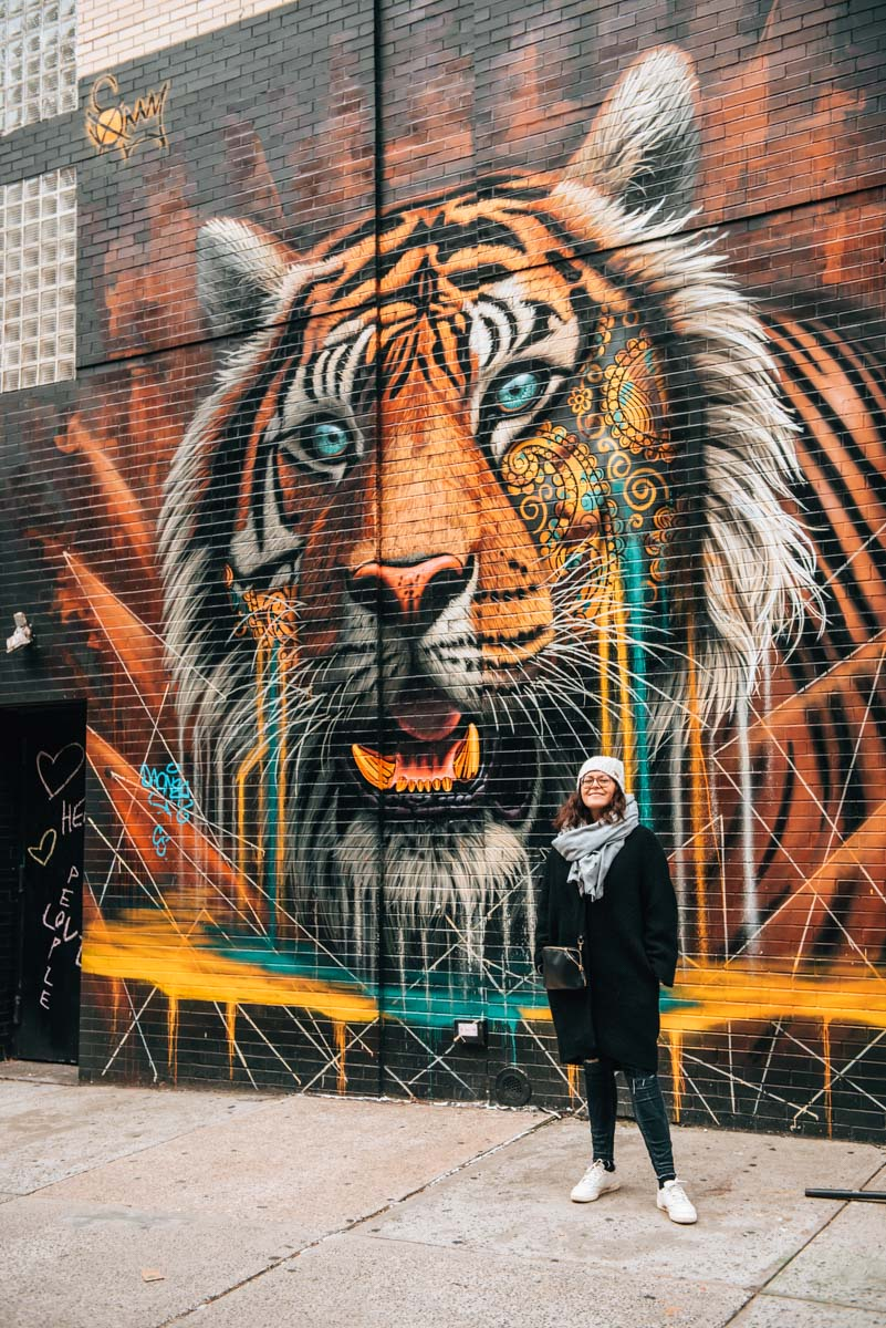New York Tiger Street Art Mural