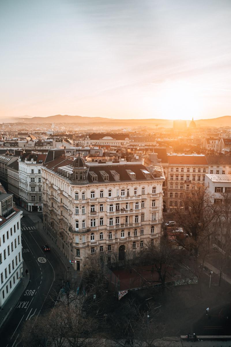 Rooftop Wien Sonnenuntergang
