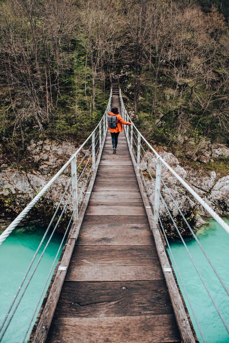 Hängebrücke Kobarid