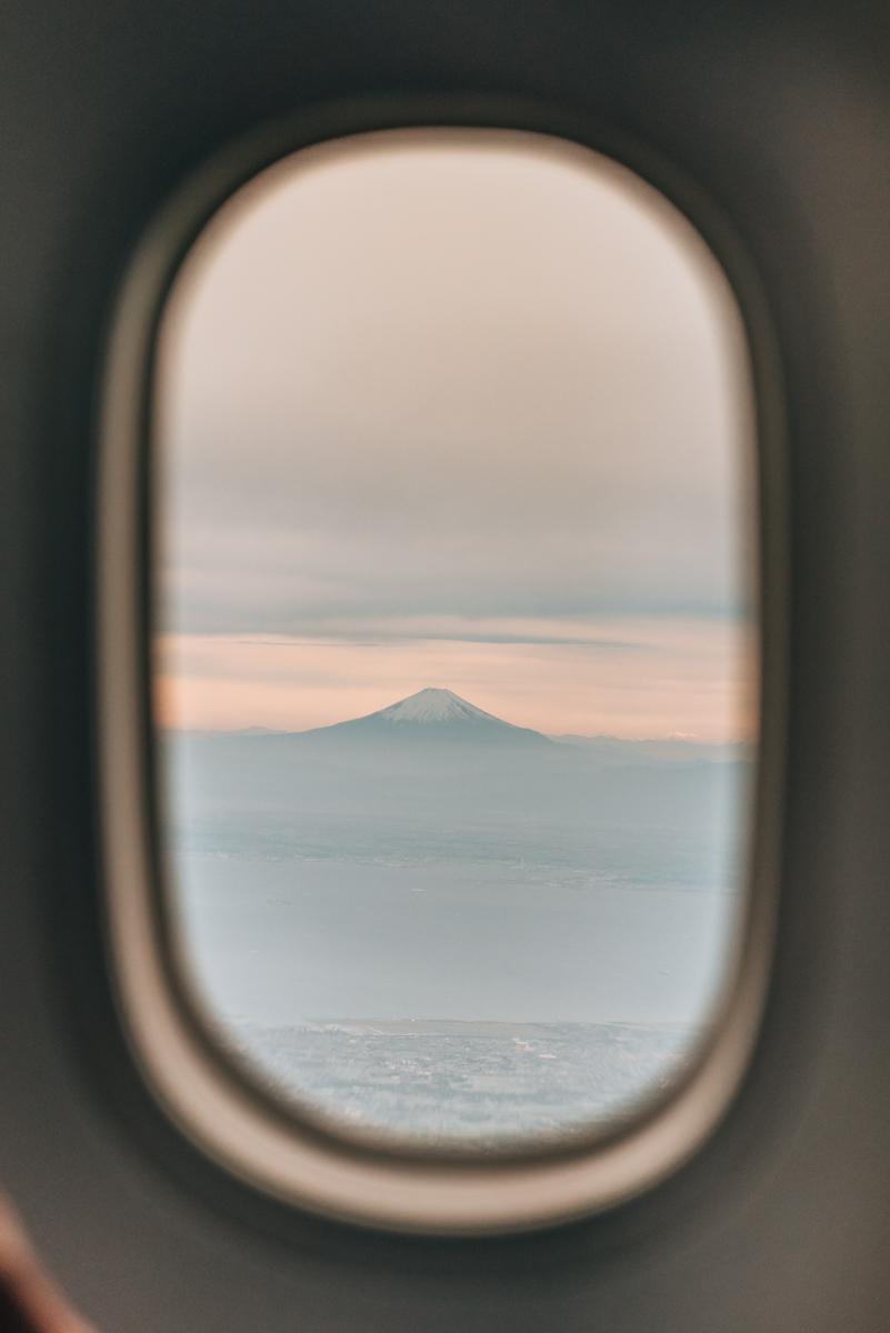 Tokyo Landeanflug Fuji