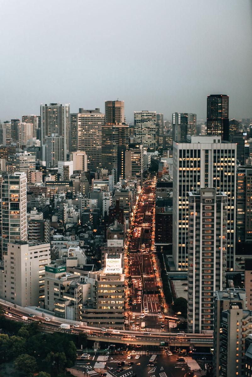 Tokyo Tower Ausblick