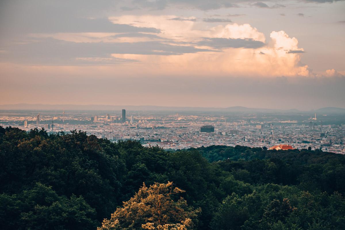 Ausblick Jubiläumswarte Wien