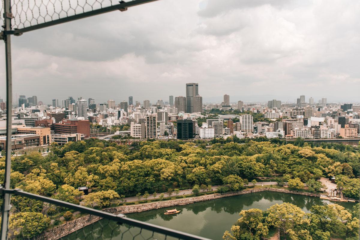 Burg Osaka Aussicht