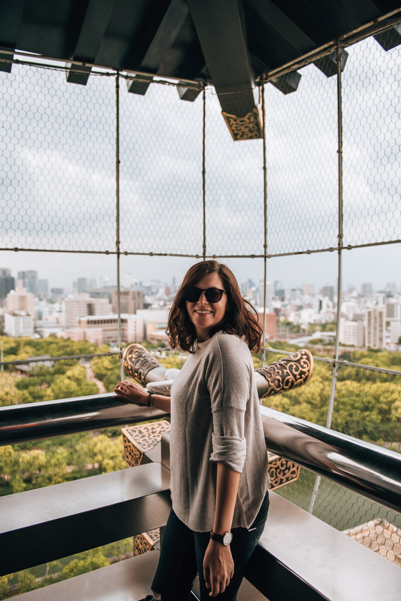 Osaka Castle Ausblick