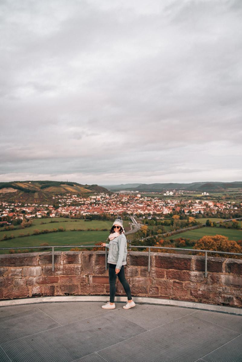 Schloss Saaleck Ausblick