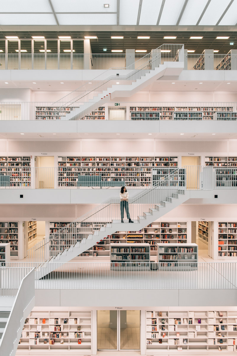 Fotografieren Stadtbibliothek Stuttgart