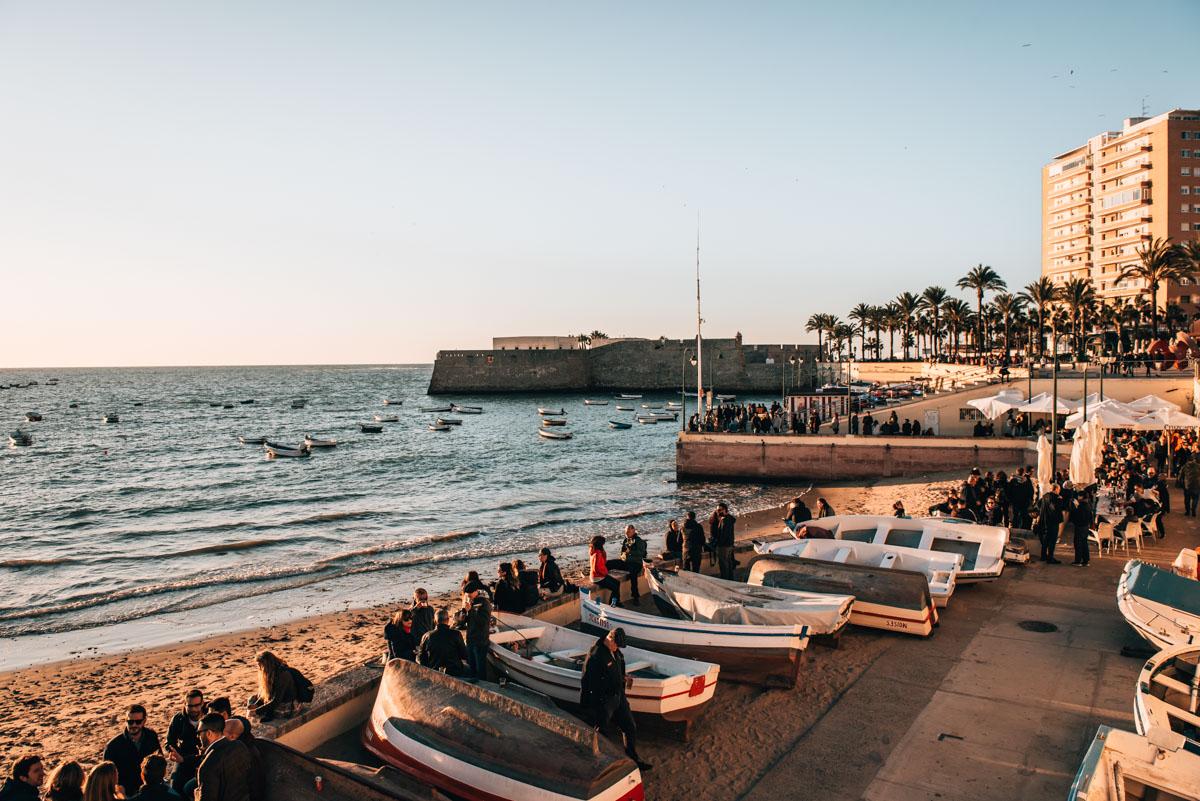 Cadiz Strandpromenade