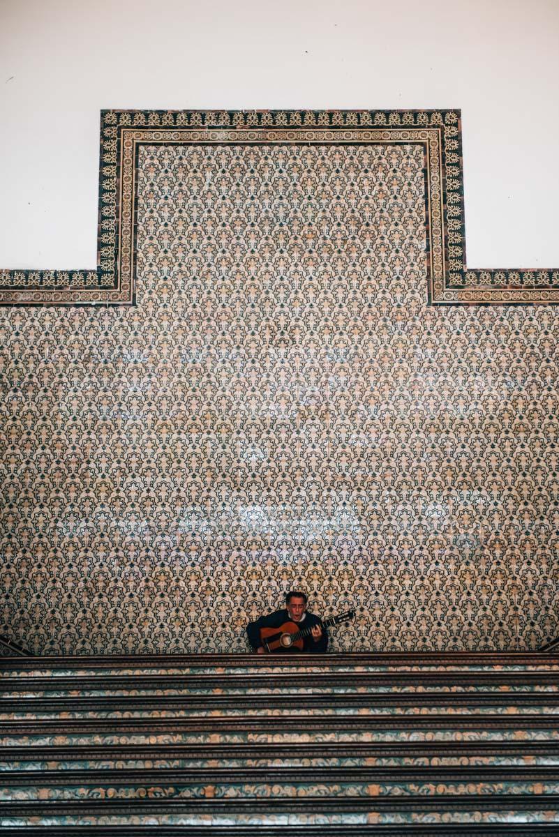 Straßenmusiker Sevilla