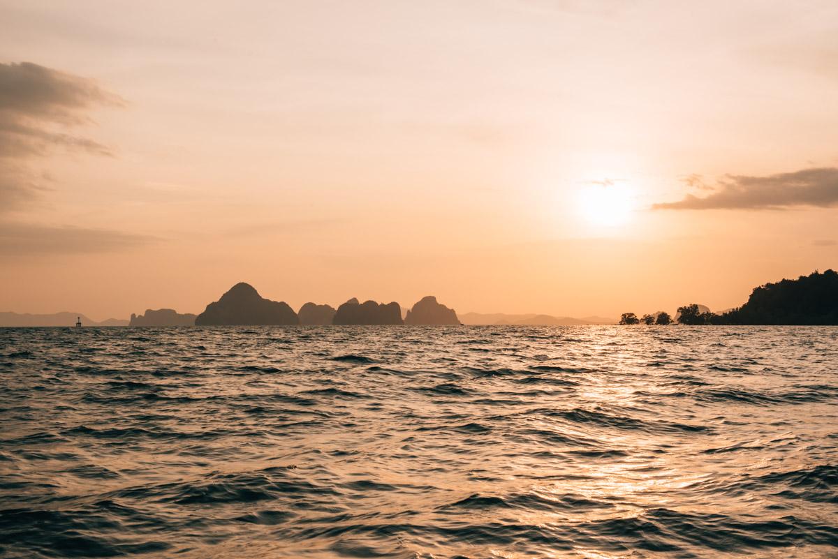 Krabi Sonnenuntergang Boot