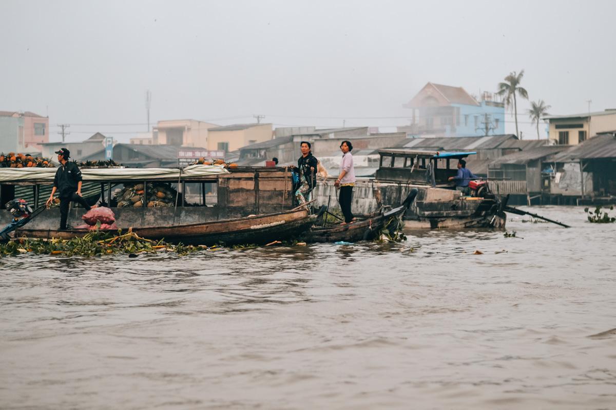 Schwimmender Markt Mekong Delta