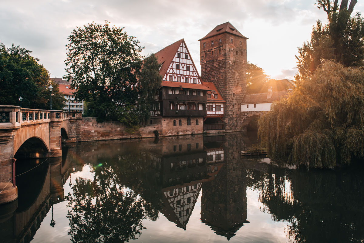 Weinstadel Nürnberg Sonnenaufgang