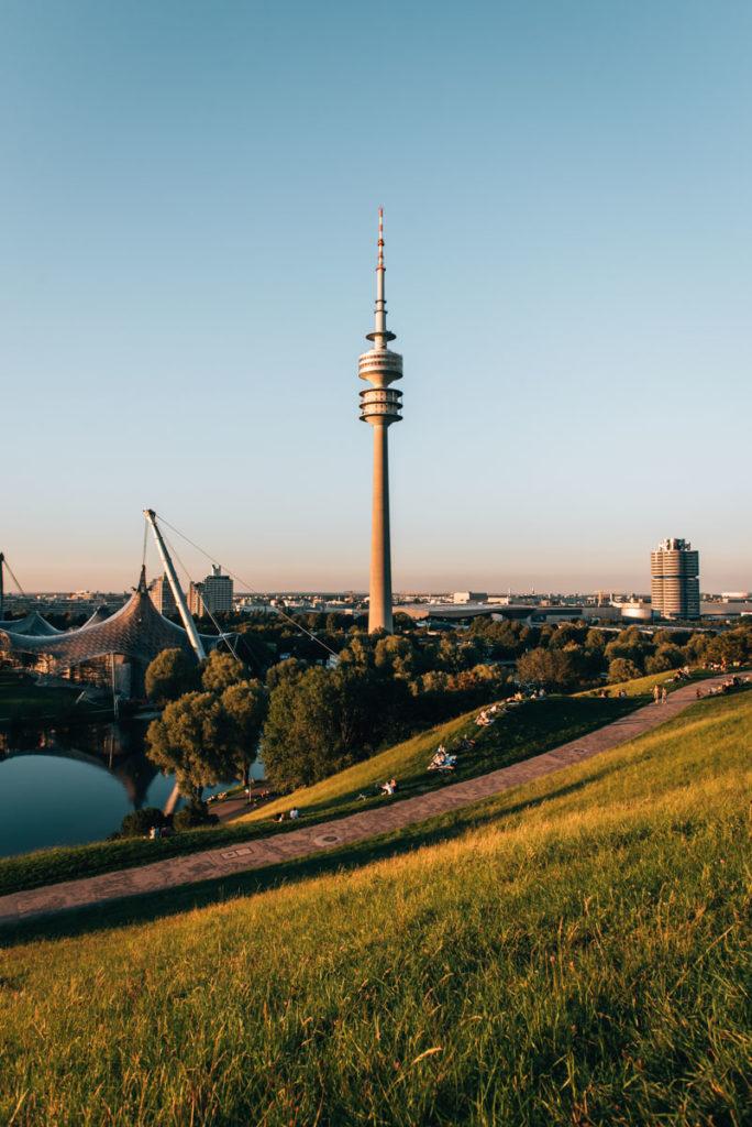 Olympiaturm München Ausblick