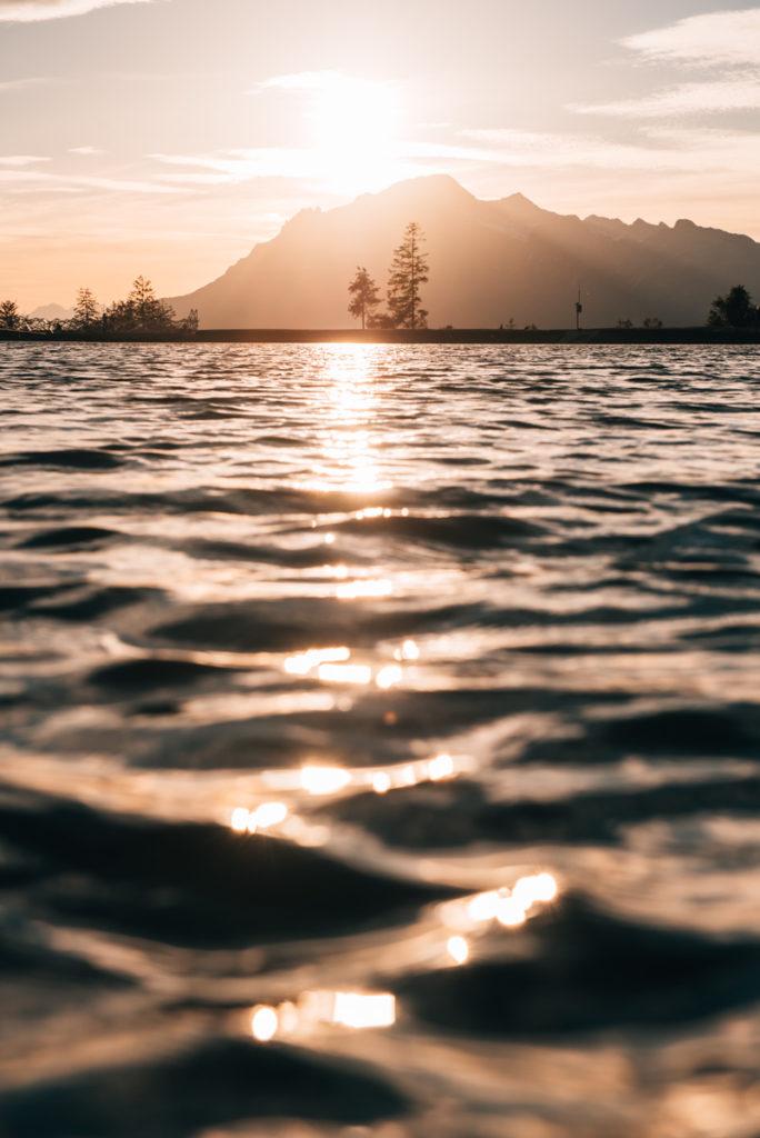 Prinzensee Sonnenuntergang
